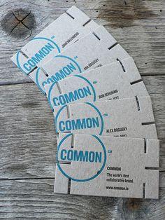 Letterpress Business Card: Common | #Business #Card #letterpress #creative #paper #bizcard #businesscard #corporate #design #visitenkarte #corporatedesign < found on www.adsoftheworld.com pinned by www.BlickeDeeler.de | Have a look on www.LogoGestaltung-Hamburg.de