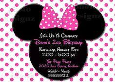 minnie mouse birthday invite idea