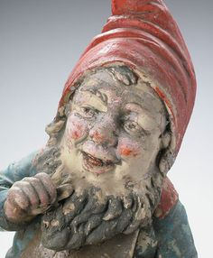 VINTAGE GARDEN GNOME, 116 years old, by Zellaby, via Flickr.