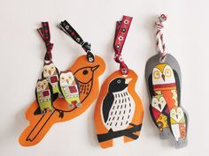Stiffened fabric bookmarks DIY