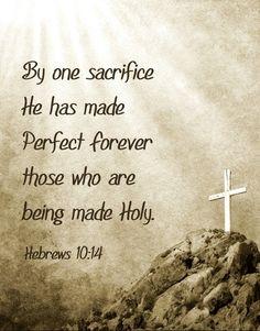 Hebrews 10:14