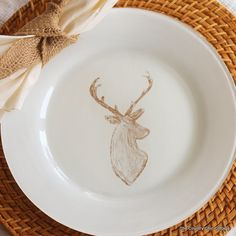 DIY Deer Painted Plates -- watch the video vs only the written steps.