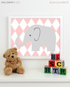 Baby Girl Nursery Art for Girls Room Decor by DallowayPlaceKids, $17.00