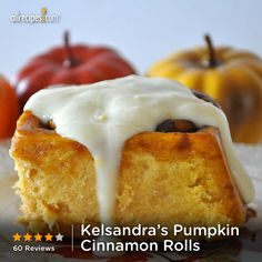 "Kelsandra's Pumpkin Cinnamon Rolls | ""Yum! We love pumpkin baked goods and these are delicious! My 7-year old said, 'If there were 30 stars, I would give them 30 stars!'"""