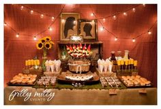 couples shower table