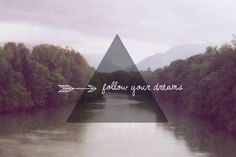 Follow Your Dreams. 8x10 Fine Art Print. Collage. Typography. Geometric. Nature. Whimsical. Serene