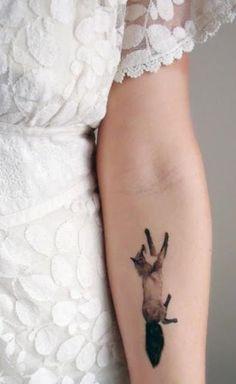 Fox temporary tattoo.