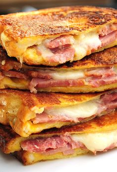 Monte Cristo Sandwich. In New England they dip these in maple syrup. Yum!