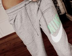 Someone get me some Nike sweatpants and I'll love you forever./so cute!