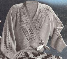 Vintage Lace Sweater Wrap Knitting Pattern