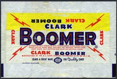 DL Clark Company - Clark Boomer - candy bar wrapper - 1950's 1960's