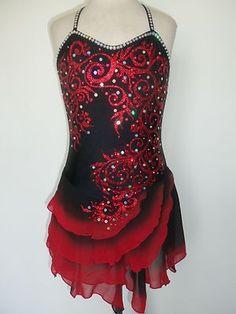 Customized Ice Skating Baton Twirling Costume Dress | eBay