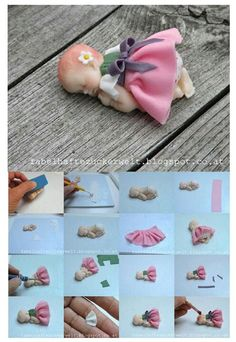 clay, babi mold, tutorials, fondant babi, tutorial fondant, cake decor, gum paste figures tutorial, dirndl, cake topper