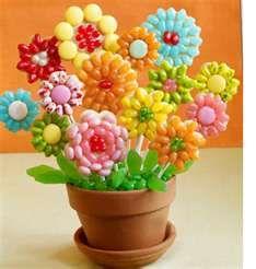 flower cookies, food, candies, bouquets, jelli belli, candi recip, flowers, jelly beans, cookie bouquet