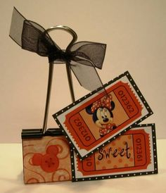 Disney Binder Clips by Shelly Suit - Cards and Paper Crafts at Splitcoaststampers
