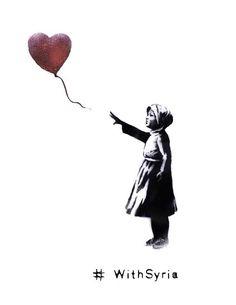 Contribution de Bansky à la journée internationale de solidarité avec les victimes de la guerre en Syrie du 15 mars #withSyria