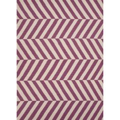 Handmade Flat Weave Stripe Pattern Pink/ Purple Rug (8' x 10') | Overstock.com Shopping - The Best Deals on 7x9 - 10x14 Rugs