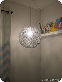 DIY Yarn Crafts : DIY Crafts: DIY Yarn Orb pendant lamp