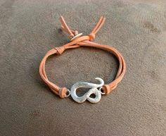 LEO  Silver and Leather Zodiac Bracelet by Sergio Antonio