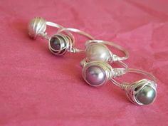 Wire Pearl Ring Tutorial