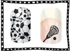 Soccer or Lax? #nailart #nailwraps #soccer #lax #lacrosse