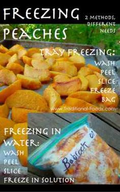 Freezing Peaches: Two Freezing Methods for Different Needs | Traditional Foods