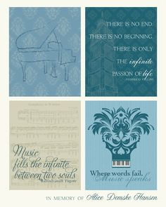 Beautiful music themed printable in honor of a woman whose own song was cut too short, too soon! Click on the image to find out more about the Alice Hansen Family Fund