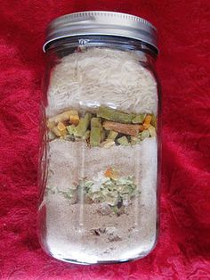 food storage meal in a jar.