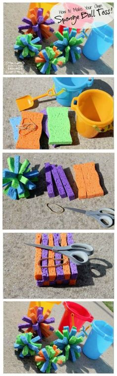 How to Make Your Own Sponge Ball Toss!
