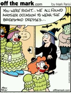 Halloween Comic. Bridesmaid Dresses