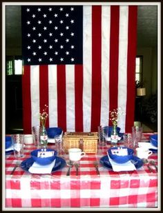 Forth of July Tablescape