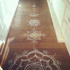 Henna floor design.