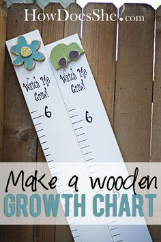 DIY Wooden Growth Chart! These are pretty dang easy and much cheaper than the ones at the stores! #diy #growthchart #vinyl from howdoesshe.com