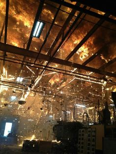 Is there anything more spectacular than the inside of a burning building?