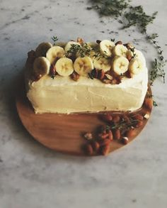 Roasted banana cake with cream cheese | Surely/Someday + Kitchen
