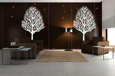 Trees Birds Vinyl Wall Decals For Modern Decorating Design Ideas