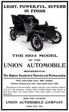 1904 Union Automobile Advertisement