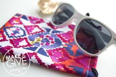 DIY Sunglasses Pouch   Lovely Indeed