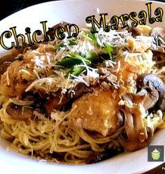 Chicken Marsala on a bed of Angel Hair Pasta! #dinner #chicken #marsala