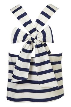 Stripe Bow Back top from Topshop