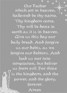 The Lord's Prayer (Our Father), in filet crochet