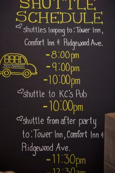 shuttle to the hotel? not a bad idea. Can print cards up to put in welcome baskets for destination weddings
