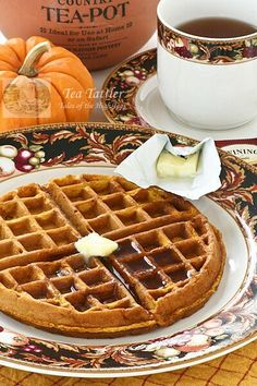 Chai Gingerbread Pumpkin Waffles