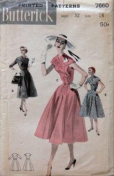 Butterick 7660 Dress - love that sleeve