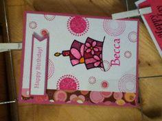 Scrap Happy Die Essentials Banner, Stampin' Up Seeing Spots & Elizabeth Craft Design peel off. Love it!