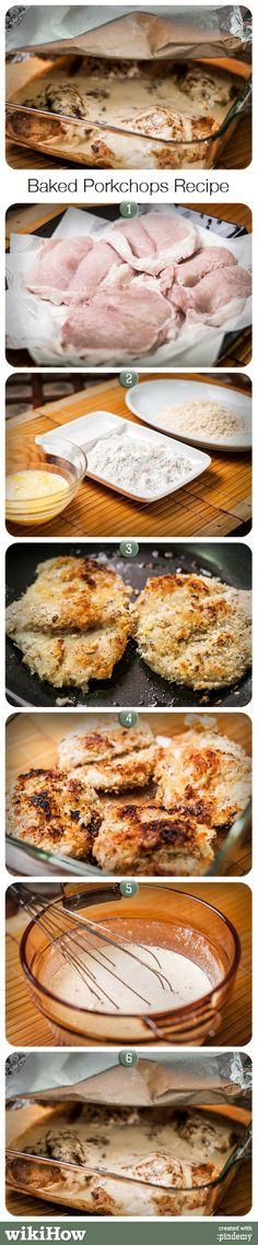 Baked Porkchops Recipe via pindemy.com