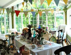 Miss Party's Vintage Fabric Bunting