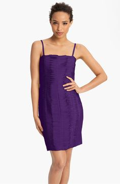 Calvin Klein Raw Edge Satin Sheath Dress available at #Nordstrom