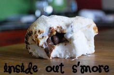 Inside Out S'mores. Yummo!!! via the-wilson-world.blogspot.com #recipes #dessert #SharingGoodFood