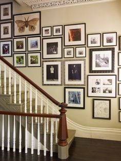 Photo Collage In Staircase Design, Pictures, Remodel, Decor and Ideas